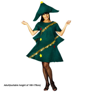 Women's Short Sleeve Cosplay Adult Novelty Dress Elf Costume Party With Hat