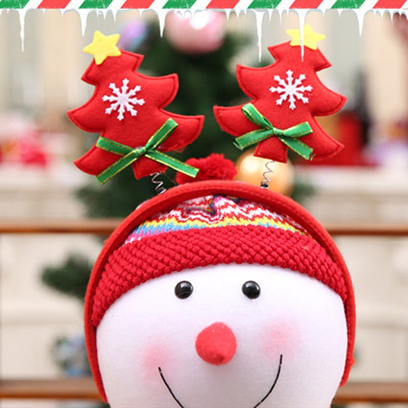 Christmas Party Favor Ornaments Christmas Tree Hat Head Wear Decoration Baby Shower Xmas Party Props Kids Lovely Toy Head Wear,W