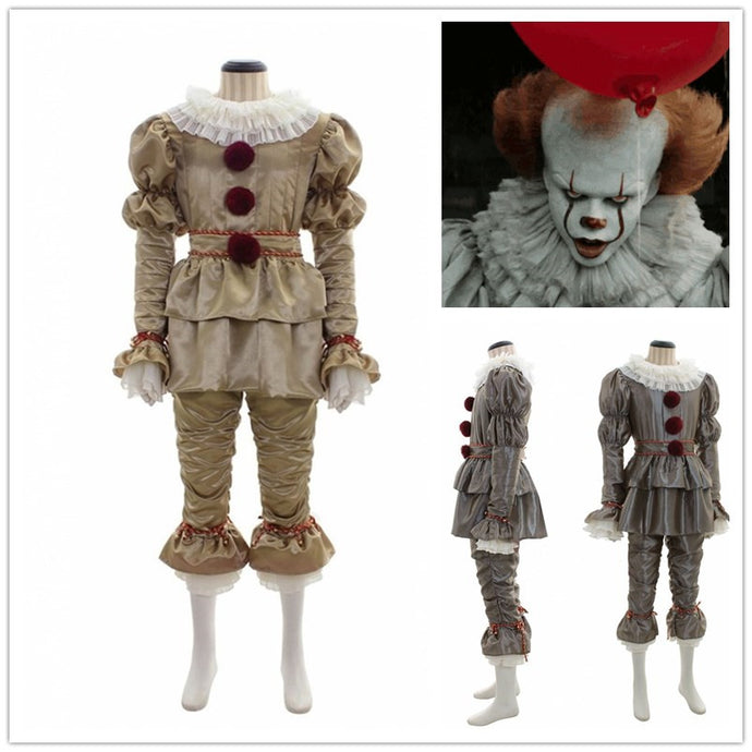 New Pennywise It: Chapter Two Cosplay Costumes Joker Horror Stephen King's It Clown Jumpsuits Halloween Party Suit New