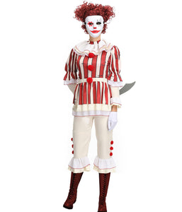 Clown Cosplay Carnival Halloween Costumes For Women adult Custom Made Outfit Suit Plus Size