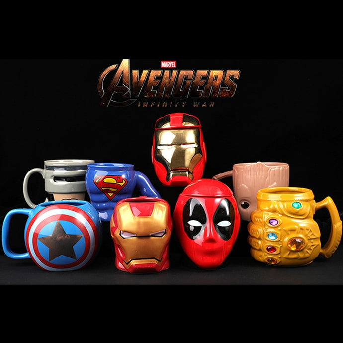 Marvel Coffee Mugs Avergers Cups and Mugs Iron Man Captain Thanos Mark Creative Drinkware