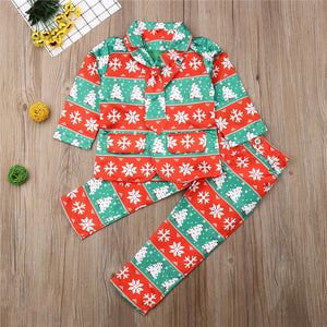 3-8Years 2019 Christmas Clothing Boys Clothes Set Santa Claus Print Shirt Boys Pants Outfits Children Suits Toddler Set Clothing
