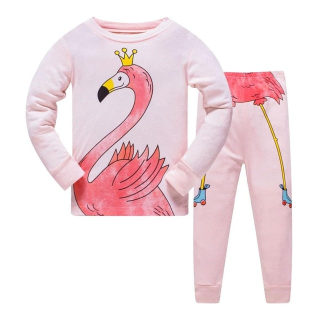 Spring Pijama Mermaid Pajama Set Cartoon Clothes Kid Pajamas For Girls Cat Autumn Pyjamas Kids Sleepwear Home Nightwear Cotton