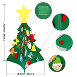 New New 3D DIY Felt Christmas Tree with Ornaments Kids New Year Toys Artificial Tree Xmas Gifts Door Wall Hanging Decorations