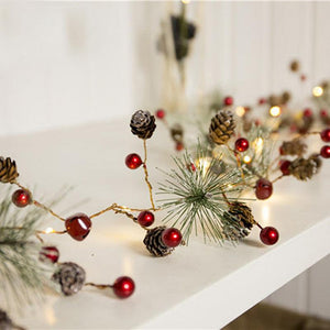 2 M 1 String 20LEDs Christmas Lights LED Copper Lights Pine Cone String Lights For Christmas Tree And Home Decoration Wholesale