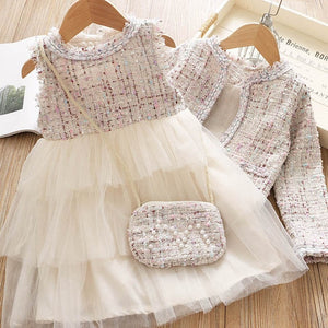 Bear Leader Girls Princess Dress New Brand Party Dresses Kids Girls Clothing Elegant Cute Girl Outfit Children Clothing Vestido