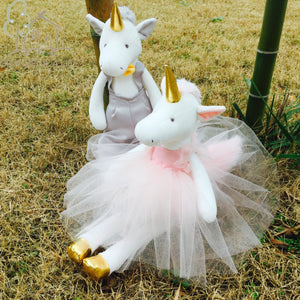 Luxury Dressed Unicorn Plush Toys with Removable Clothes Best Gift for Bride and Groom Wedding Decor Unicorn Male & Female Doll