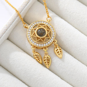New fashion Dream catcher necklace Exquisite stainless steel chain hollow100 language necklaces Best Friend Gift BFF