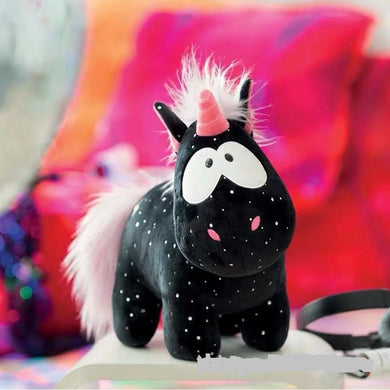 Angel Black Unicorn Doll Plush