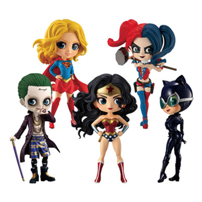 Wonder Woman Harley Quinn Joker Superhero PVC Action Figure
