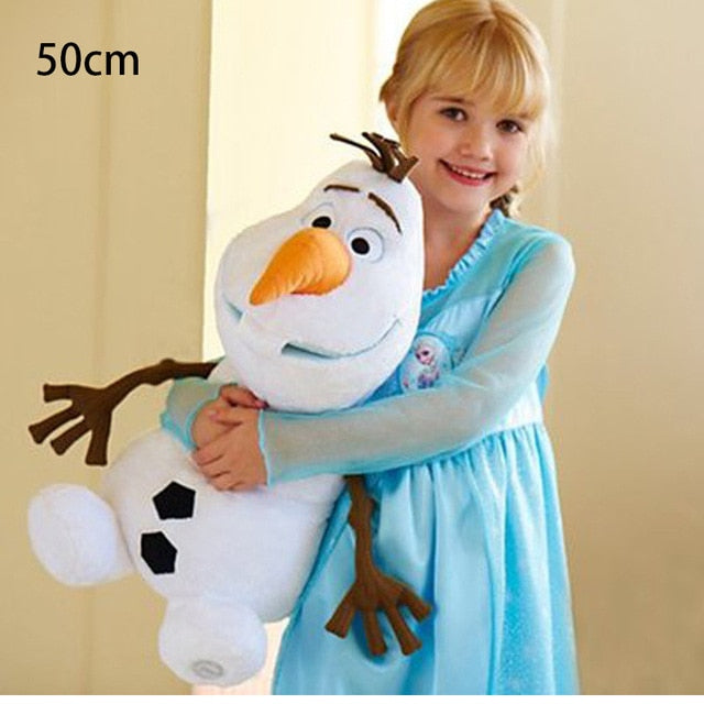 Disney 30cm 40cm 50cm Frozen Olaf Plush Kawaii Snowman Cartoon Cute Plush