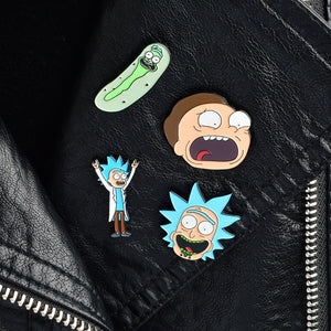 Anime The Scientist Adventure Pins Buttons Zinc Alloy Badges Brooches 4PCS for Backpack Handbag Clothes Pants
