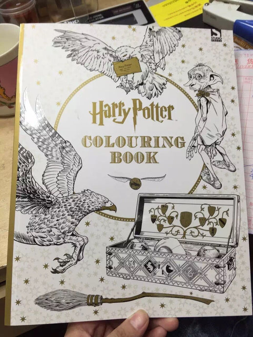 96pages Harry Potter Coloring Book. Books for Children adult secret garden Series Kill Time Painting Drawing Books