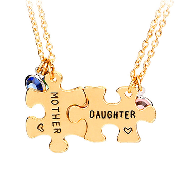 mother daughter necklaces women Interlocking For 2 Stitching jewelry mothers day gift to children