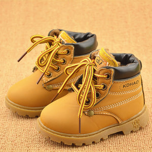 Spring Autumn Winter Children Sneakers Martin Boots Kids Shoes Boys Girls Snow Boots Casual Shoes Girls Boys Plush Fashion Boots