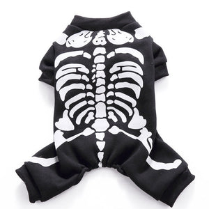 Halloween Pet Dog Clothes Costume Horror Skeleton Clothes For Dogs Chihuahua Clothing Pet Products Clothes For Roupa para