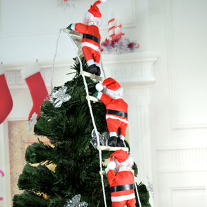 Christmas Pendant Ladder Christmas Santa Claus Doll Tree New Year Decorations Drop Ornaments