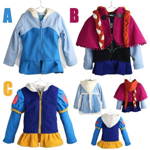 Autumn  Winter Clothes Coat Hooded Coat Party Elsa Anna Costumes Children Clothing Girls Clothes Outwear