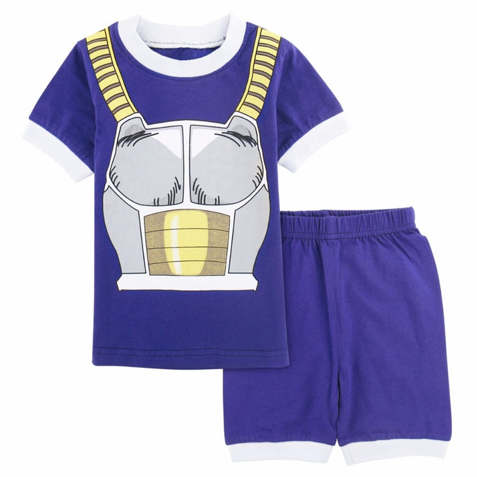 Kids Baby Boys Cartoon Vegeta Costume Clothing Short Sleeve Sleepwear Pajamas Children Pajamas Set  Summer Homewear Pyjamas