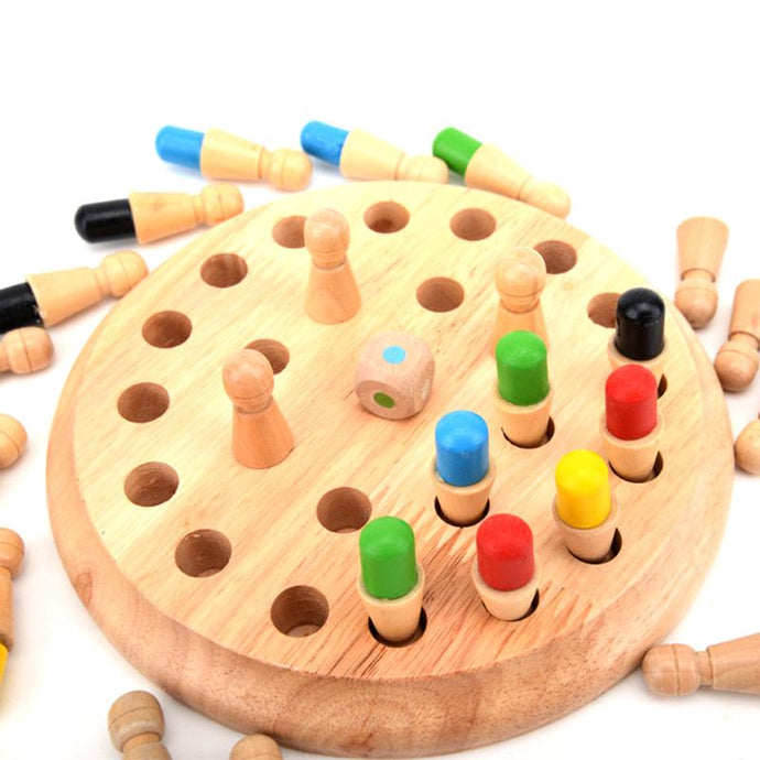 Kids Wooden Memory Match Stick Chess Game Children Early Educational 3D Puzzles Family Party Casual Game Puzzles Ideal Xmas Gift