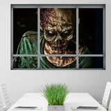 Halloween Zombie Wall Stickers Horror Poster Window View Big Size Sticker Halloween Gifts Room Decoration Wall Decals Kids Gifts