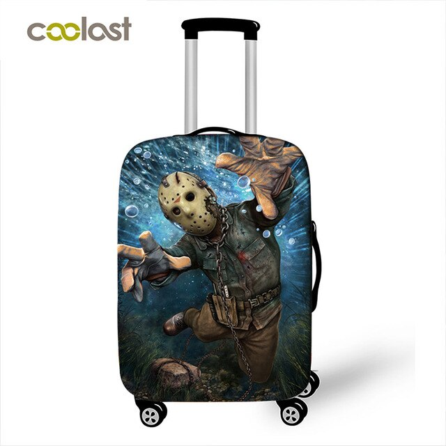 Horrible Nightmare Chucky Jason Freddy Luggage Protective Cover Elastic Anti-dust Suitcase Covers Travel Accessories Covers
