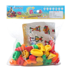 50pcs Kids Funny Plastic Building Blocks Educational Toys For Children 3D Construction Toy Baby DIY Bullet  Design Funny Bricks