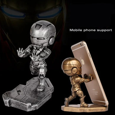 Super hero Iron Man Phone holder action figure craft model toy Tonny Mark Resin figure Chritmas birthday Gift