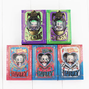 5pcs/lot Harley Quinn Joker Pendant Keychain PVC Action Figure Model Toy Doll 3cm