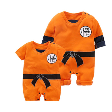 Baby Clothing Baby rompers Son Goku Style Long and Short Sleeve Baby Jumpsuits Baby Boy Girl Clothes