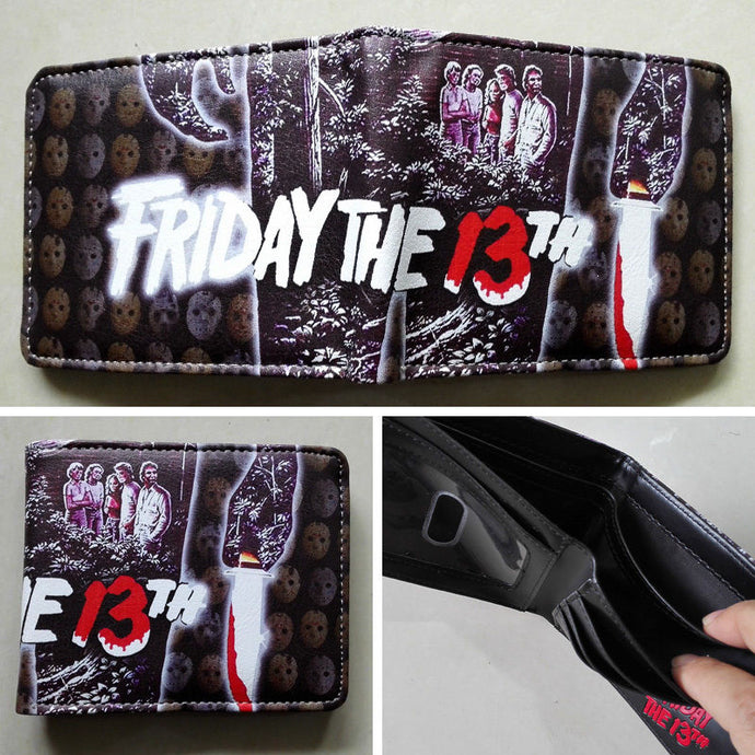 Movie Friday the 13th Logo wallets Purse Multi-Color 12cm Leather New Hot
