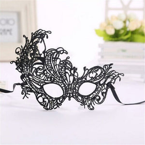 1Pcs Black Women Sexy Lace Eye Mask Party Masks For Masquerade Halloween Venetian Costumes Carnival Mask For Anonymous Mardi New