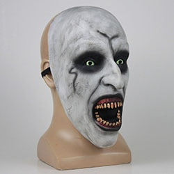 The Nun Horror Mask Cosplay Valak Scary Latex Masks With Headscarf Full Face Helmet Halloween Party Props