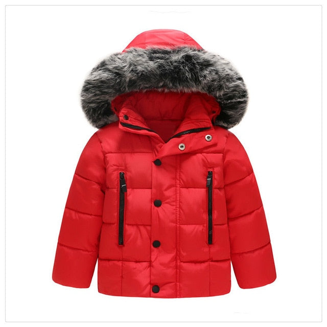 2850b64d0 Baby Boys Jacket 2018 Autumn Winter Jacket Coat Kids Warm Thick ...