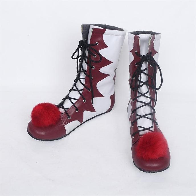 Halloween stephen king's it pennywise Clown pennywise the clown costume Mens Women Cosplay Costumes Boots Shoes Custom