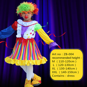 Children's Day Purim Halloween Circus Clown Costumes Boys Kids Funny Clown Costume Fantasia Infantil Cosplay for Girl