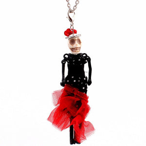 12 Styles Bride and Groom Queen Halloween Skull doll Necklace wedding Dress design Trendy Long Chain Necklace Fashion Jewelry