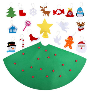 Christmas Tree For Toddlers with Ornaments Merry Christmas Decoration Playtime Children's Tree