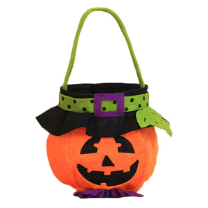 Halloween Portable Pumpkin Bag Candy Bag Non-woven Bag Kindergarten Children's Portable Sugar Bag for Gifts Festive 5 Styles