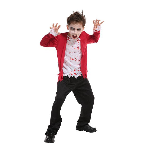 Umorden Carnival Party Halloween Kids Children Count Dracula Gothic Vampire Costume Fantasia Prince Vampire Cosplay for Boy Boys