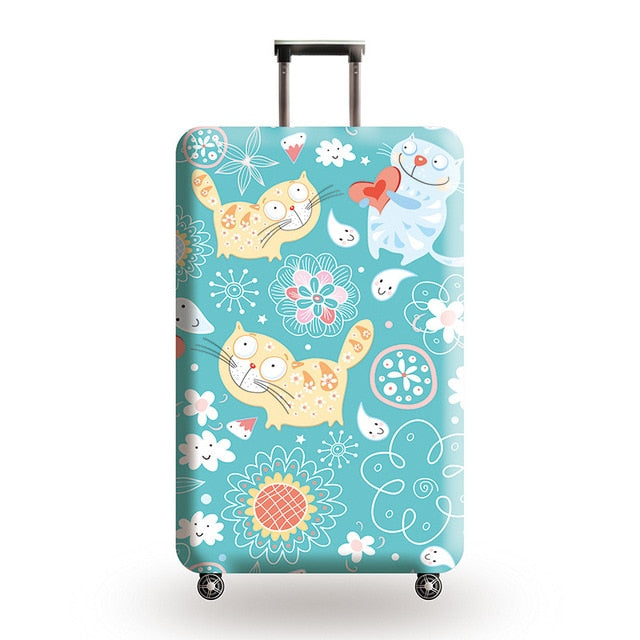 New Suitcase Elastic Dust Cover Luggage Case for 18~32 inch Password Box Trolley Case Cat Pattern Protective Cover
