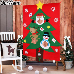 Christmas Tree Hanging Toss Game Party Gift for Kids Felt Festival