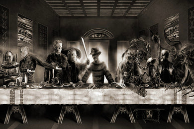 The Last Supper Freddy vs Jason Horror Movie Funny Art Silk poster print room wall Decor 24