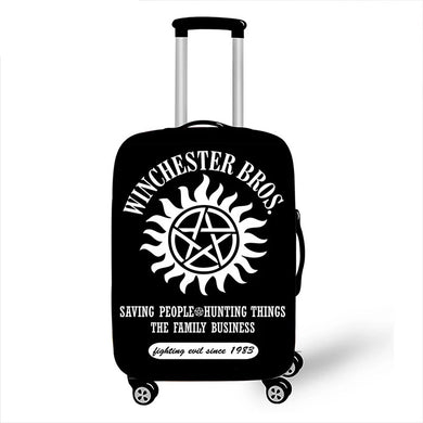 Supernatural Luggage Protective Cover Demon Hunter Winchester Bros Sam Dean Dust Proof Suitcase Covers Travel Accessories