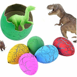 6Pcs Cute Magic Hatching Growing Dinosaur Eggs Novelty Gag Toys