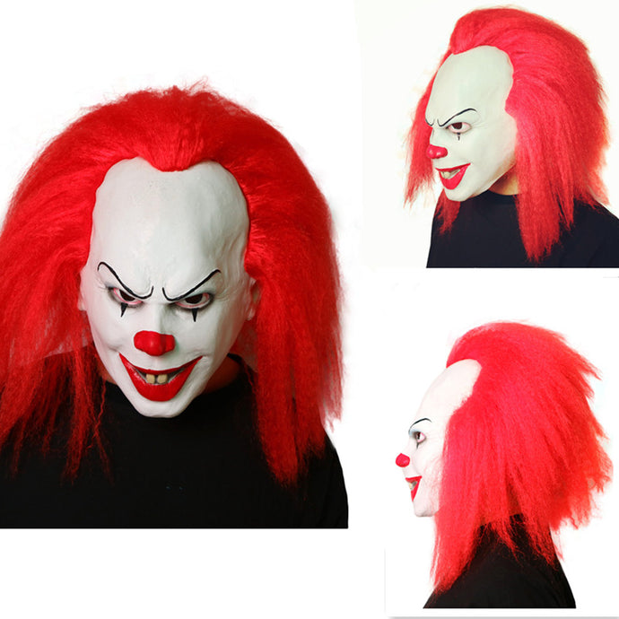 Stephen Kings it Pennywise masks from IT Horror movies Slasher Films Smiley Joker Jinx the Clown Killers Scary Mask Latex