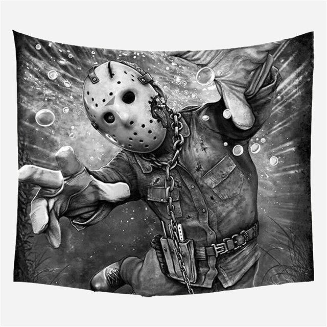 Horror Movie Jason Voorhees Wall Tapestry Friday the 13th Wall Hanging