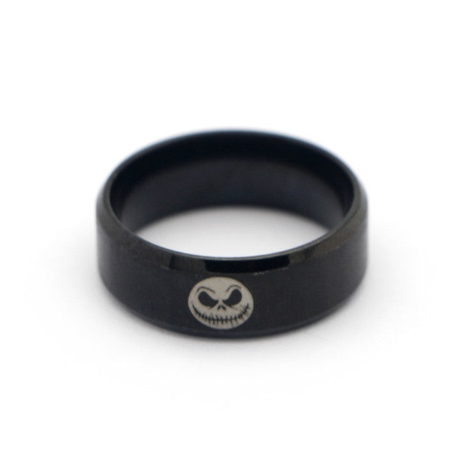 Moive The Nightmare Before Christmas Jack Rings Skull Rings Ring For Man's Boy's Gifts For Man Fans Fashion Movie Jewelry