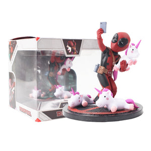 13cm Avengers Deadpool Funny Unicorn Selfie 1/10 Scale Painted Figure Unicornselfie PVC Action Figure Collection Model Toy