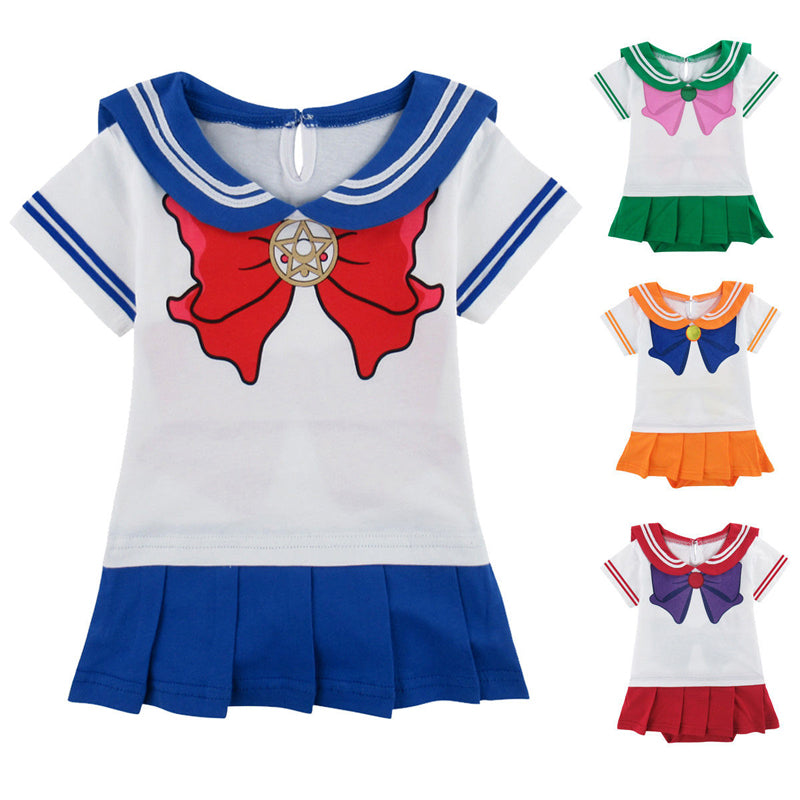 Baby Girls Sailor Moon Cosplay Bodysuit Japanese Anime Pretty